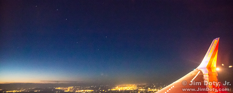 The Big Dipper from a Jet plane