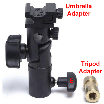 Umbrella Adapter with a Tripod Adapter