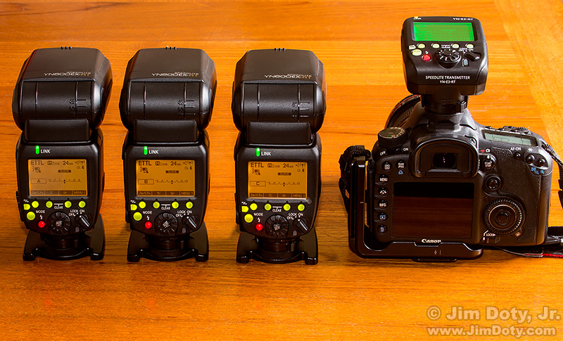 Yongnuo 600 EX-RT Speedlite and Yonghuo YN-E3-RT Transmitter.