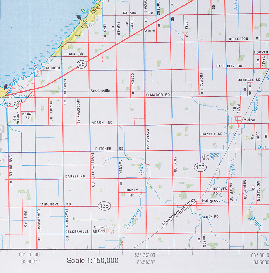 Akron Michigan area. Michigan Atlas and Gazetteer by Delorme