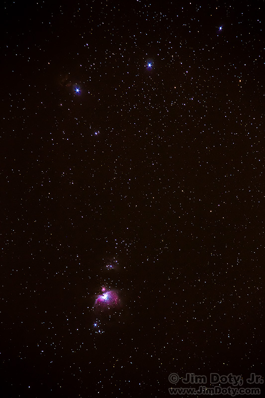 Orion's Belt and Sword Scabbard and the Orion Nebula