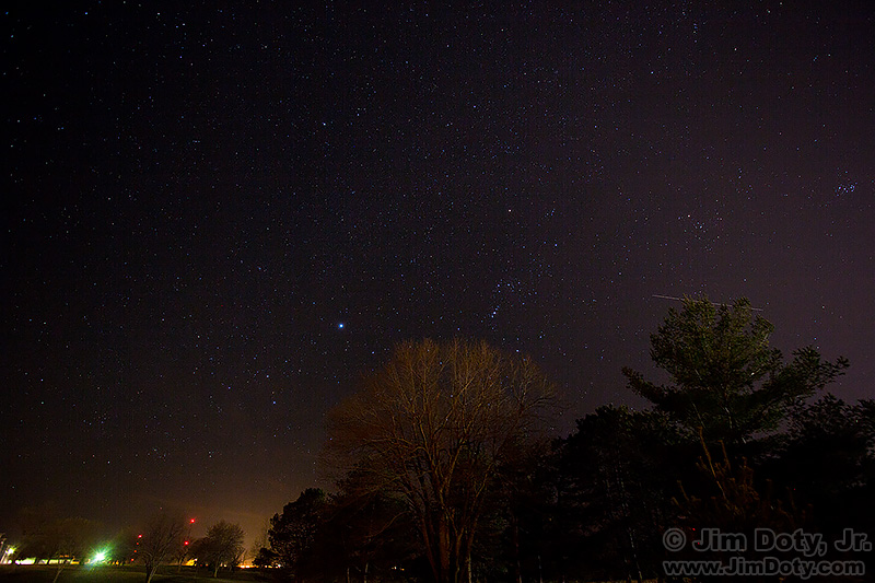 Orion, Canis Major, Sirius, Taurus, Hyades, Pleiades