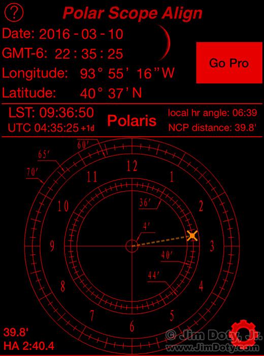 Polar Scope Align smartphone app