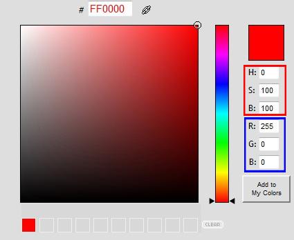 Screen Capture: ColorPicker.com
