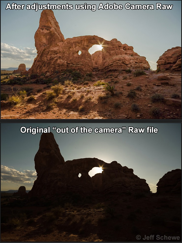 Turret Arch, processed and original files.