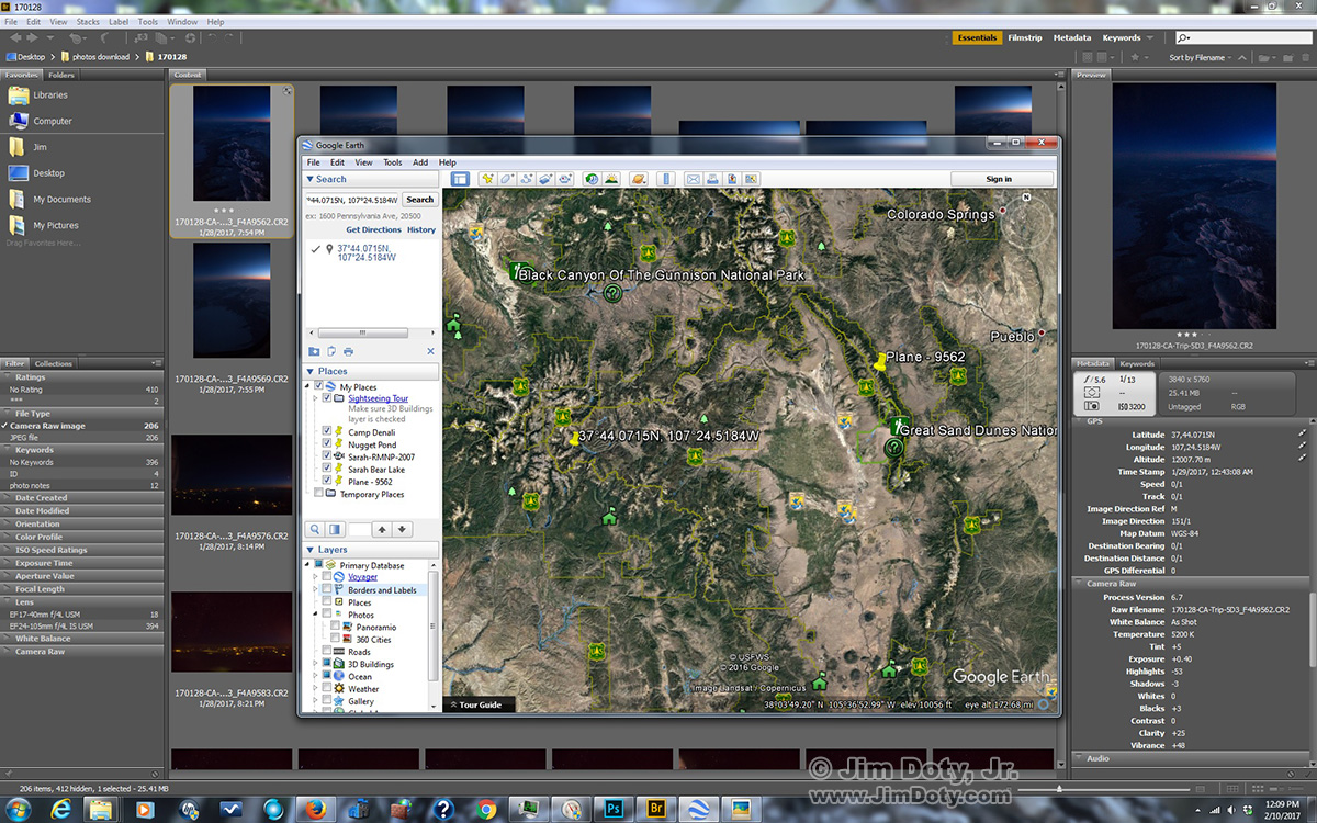 Adobe Bridge and Google Earth.