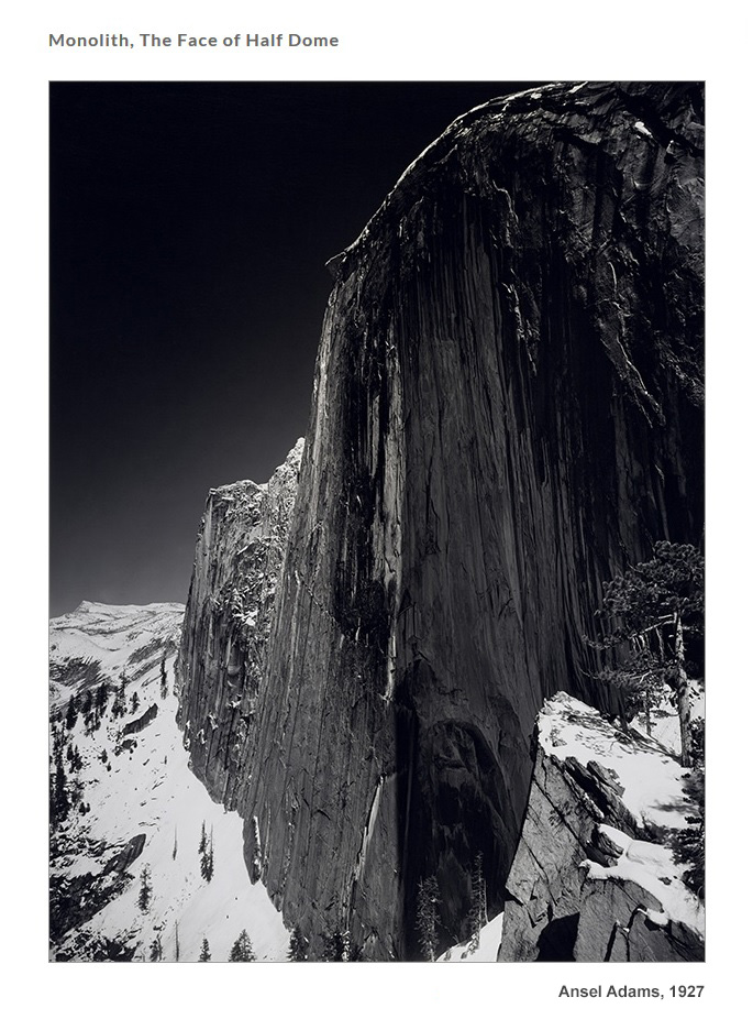 Ansel Adams, Monolith, The Face of Half Domem 1927