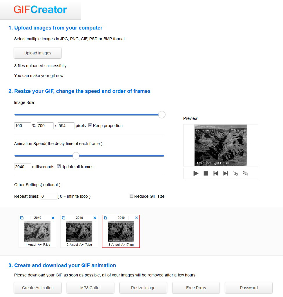 Create an animated gif online no software necessary blog gifcreator negle Images