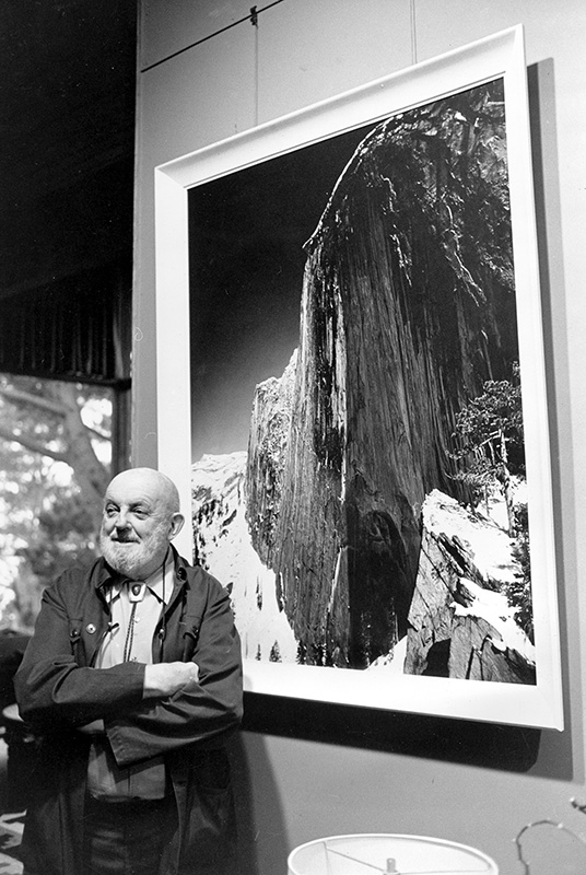 Ansel Adams, Monolith: The Face of Half Dome, 1927. Photographed in his home Dec. 2, 1980.