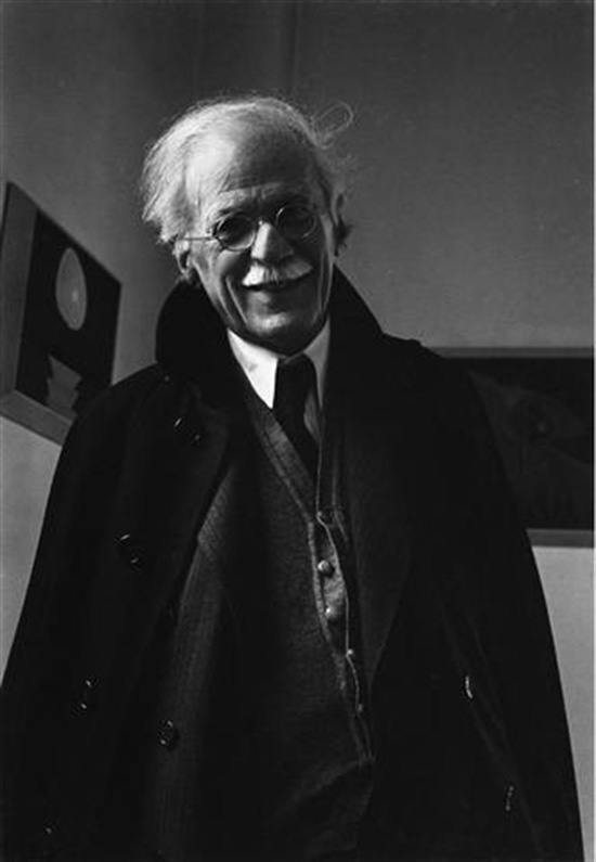 Alfred Stieglitz at an American Place, New York City. Photo by Ansel Adams.