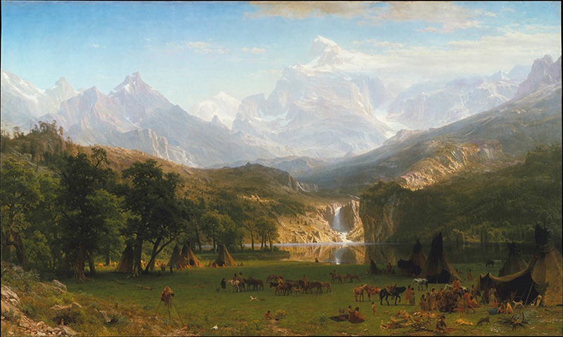 """The Rocky Mountains, Lander's Peak"" by Albert Bierstadt"