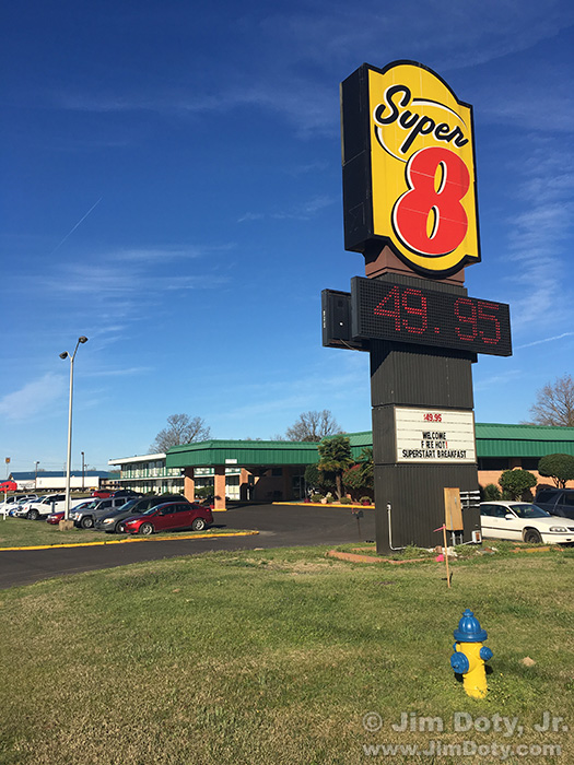 Super 8, Hope Arkansas. March 2, 2017.