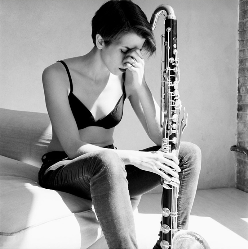 Woman with Bass Clarinet by George Pitts