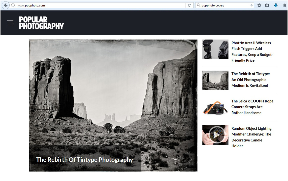 The PopPhoto web site
