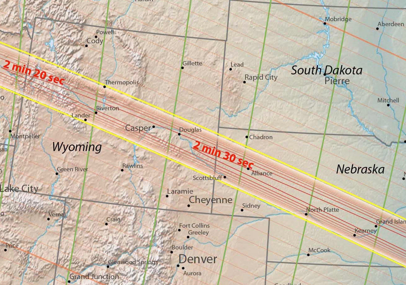 Four Maps The Great American Eclipse Totality Path From Oregon To