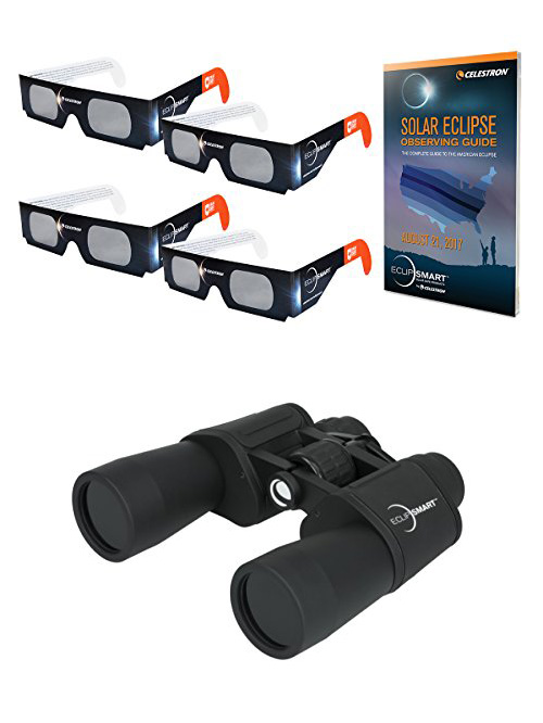 Celestron eclipse glasses and binoculars.