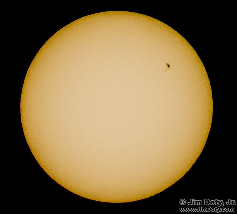 Sunspots, photographed through a Lee solar filter.
