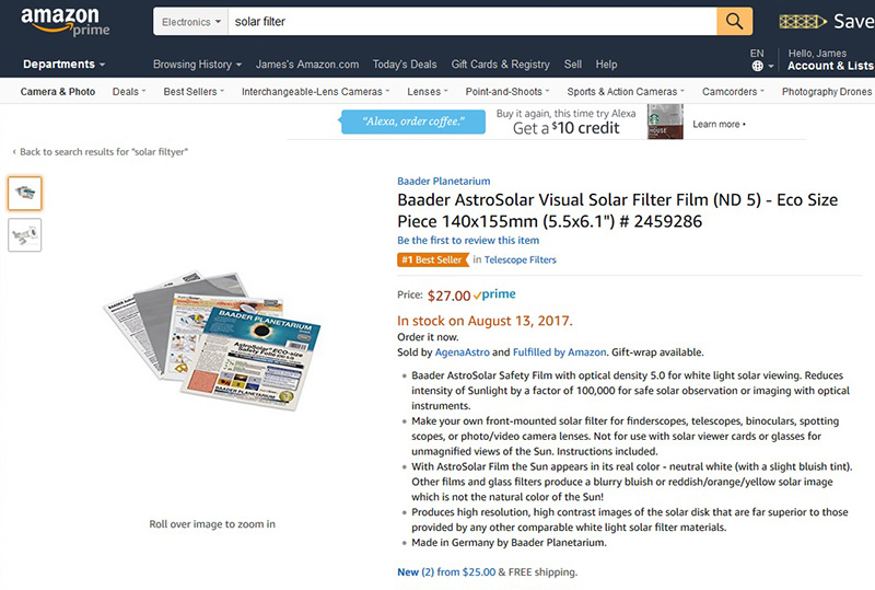 """you can make your own inexpensive """"high density"""" filter to ..."""