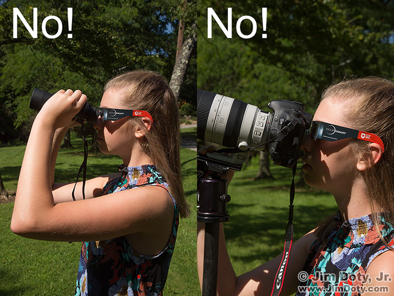 safe and unsafe uses of eclipse glasses and solar filter materials ...