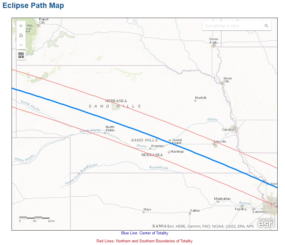 State By State Eclipse Totality Maps BlogJimDotycom - State map of nebraska