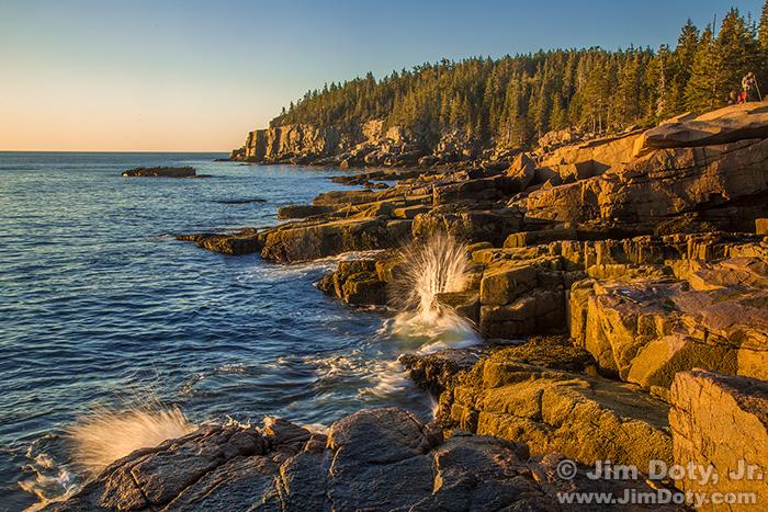 Otter Cliff and Granite Ledges at Sunrise, Acadia National Park.