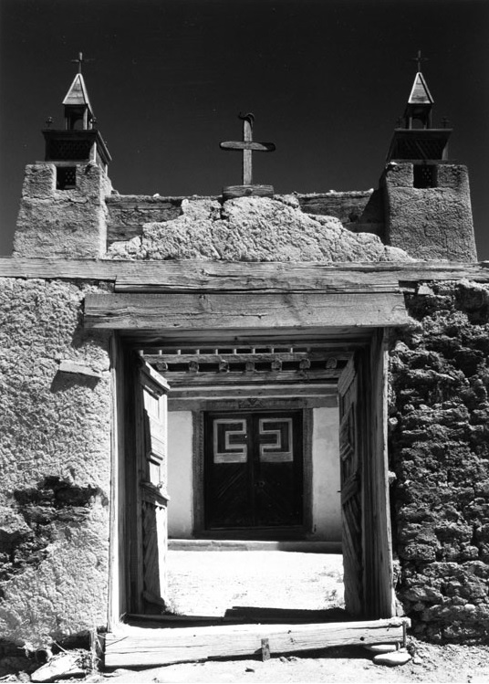 Ansel Adams, Gates and Towers, Las Trampas Church, New Mexico