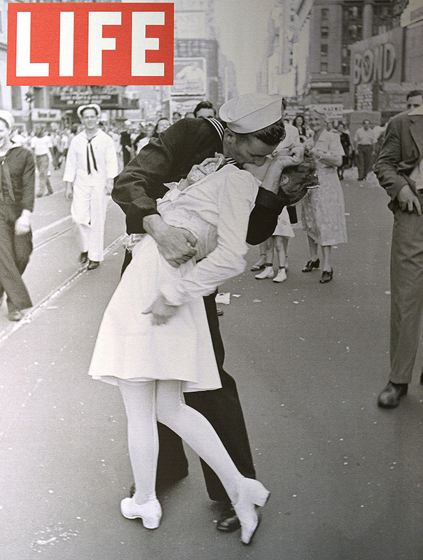 Life Magazine, Cover Photo from  V-J Day, 1945.