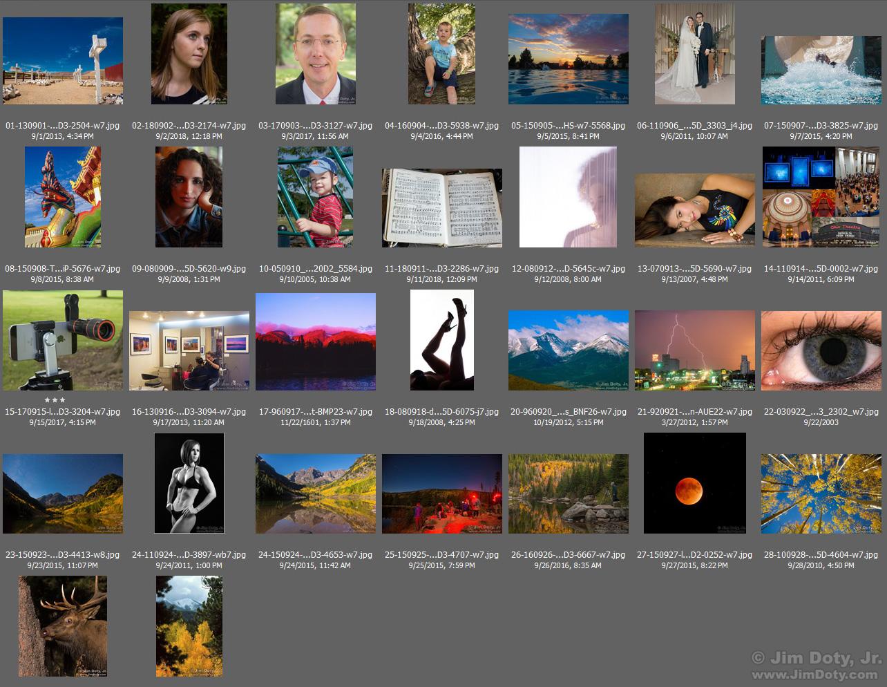 Favorite Photos, September. Click for a larger version.