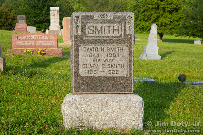 David H. Smith, Headstone, Lamoni Iowa. June 17, 2019.