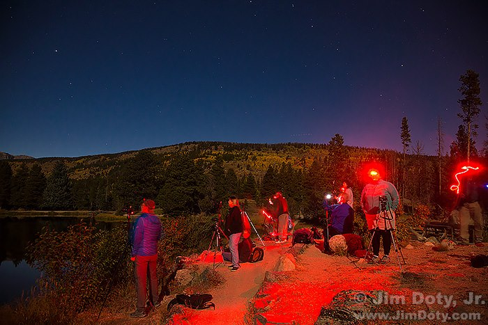 Field trip at night, Colorado workshop