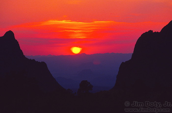 "Sunset, ""The Window"", Chisos Basin"