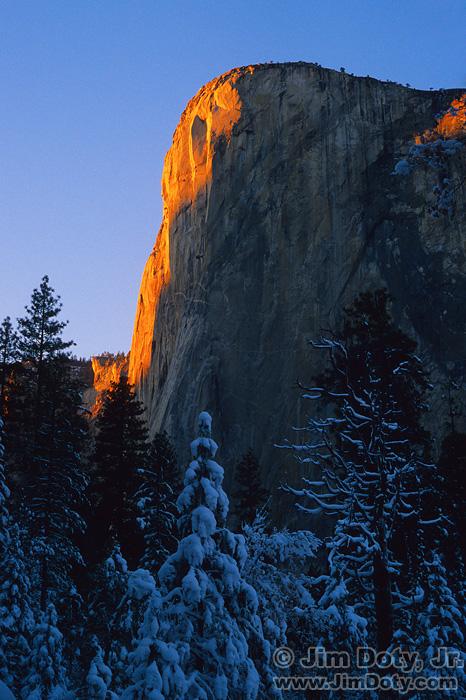Last Light on El Capitan, Yosemite National Park