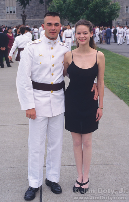 Jim and Janae, USMA, West Point, New York. June 2, 1995.