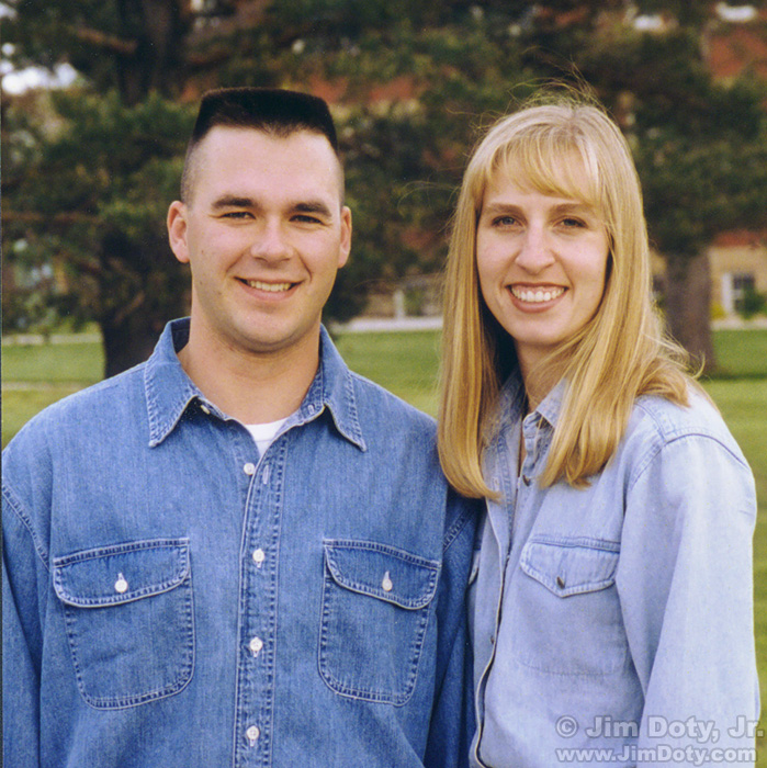 Jim and Jennifer, Lamoni Iowa. May 15, 1999