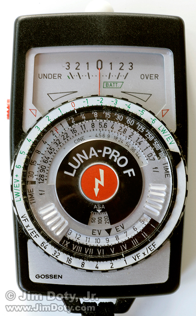Analog Incident Light Meter, Gossen Luna-Pro F. Photo copyright Jim Doty Jr