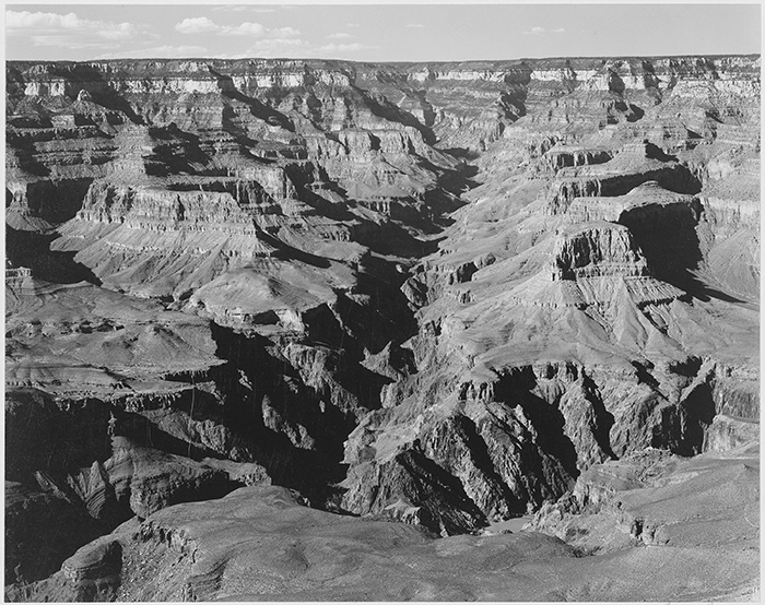Ansel Adams, Grand Canyon, original file.