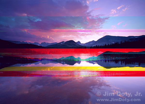 Brainard Lake, damaged file. Photo copyright Jim Doty Jr.
