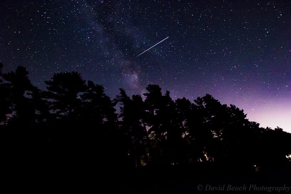 The International Space Station by David Beach, taken at the Park of the Pines Michigan workshop.