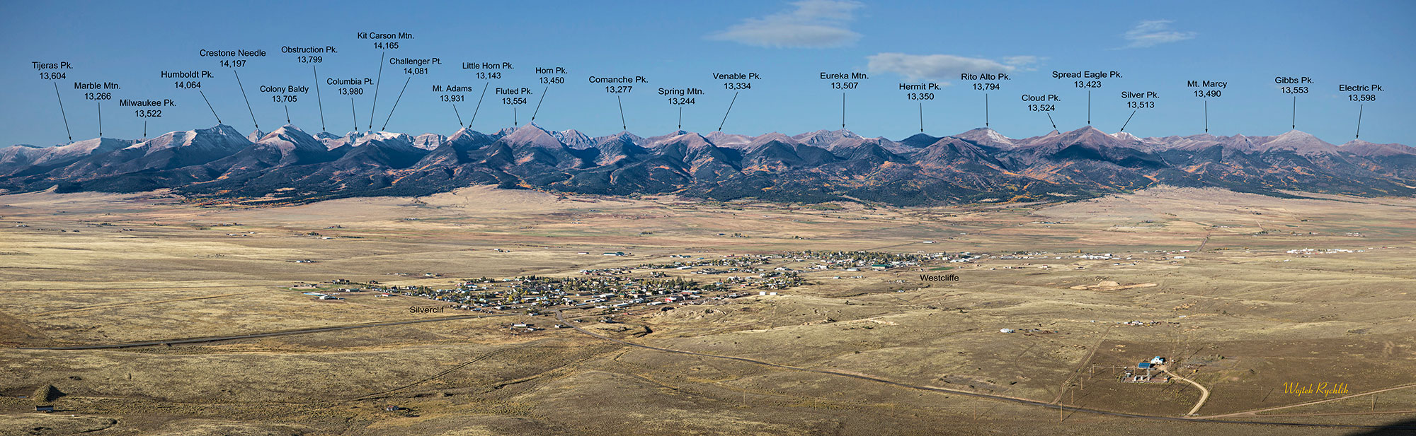 Aerial photo of the Sangre de Cristos by Wojtek Rychlik