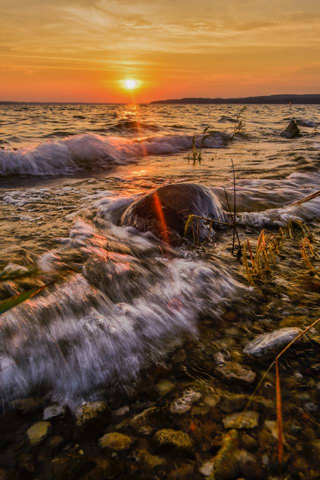 Sunset by Tyler Davis, taken at one of the Michigan workshops.