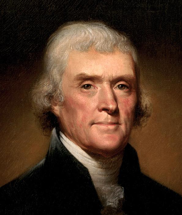 Thomas Jefferson by Rembrandt Peale, 1800