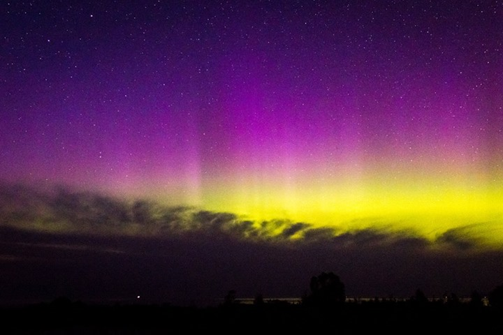 Northern Lights by Winnie Johnston, taken at one of the Michigan workshops.