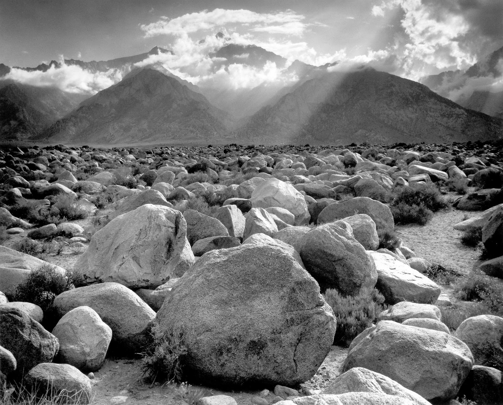 Ansel Adams, Mount Williamson, Sierra Nevada, from Manzanar, 1944