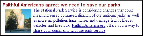 From the National Council of Churches home page, February 16, 2006